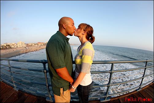 Santa Monica engagement portrait photographer