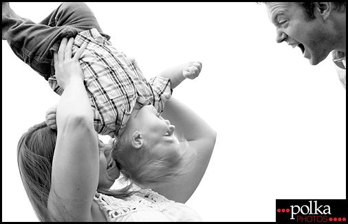 Los Angeles family portrait photographer Polka Photos mom dad son