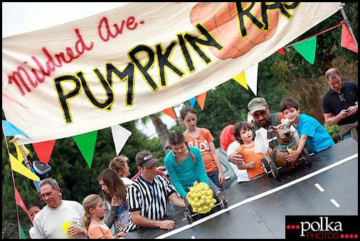 Los Angeles Mildred Avenue pumpkin races