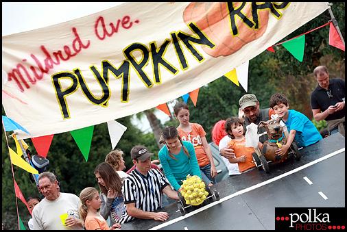 Los Angeles Mildred Avenue pumpkin races