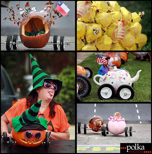 pumpkin races Los Angeles family portrait photographer Polka Photos