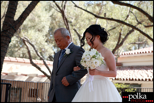 wedding bride father of the bride Padua Hills Theatre Claremont California