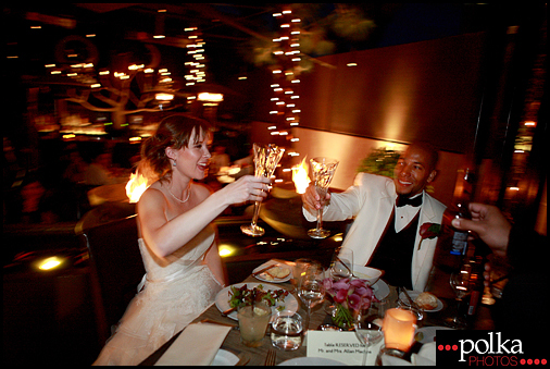 wedding champagne toast photographer Santa Monica