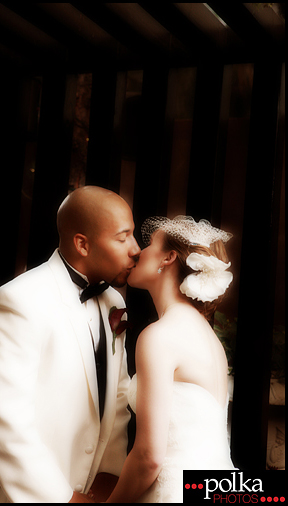 wedding kiss bride groom Los Angeles wedding photographer
