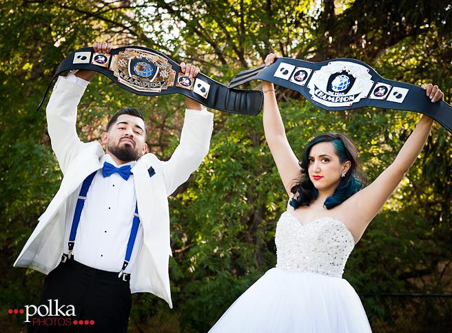 Mexican wedding, lucha libre, luchador, wedding, Los Angeles, bride, groom, offbeat wedding, nontraditional wedding, offbeat bride