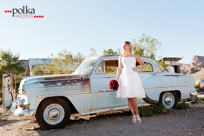 destination wedding; circus; ghost town; vintage; wedding; las vegas; las vegas wedding; circus wedding; rustic, antique car