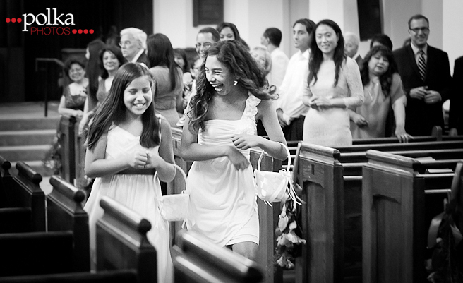 flower girls laughing 091214