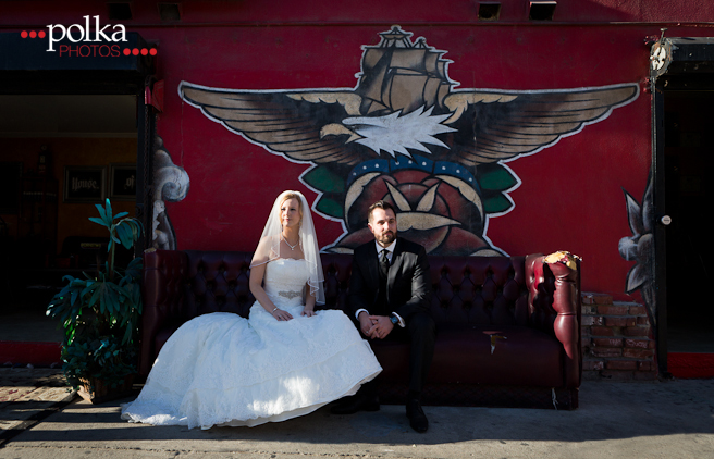 venice beach, venice beach wedding, venice beach street art, street art, mural, los angeles wedding photographer, venice beach wedding photographer, urban wedding, offbeat wedding, ink, tattoo bride