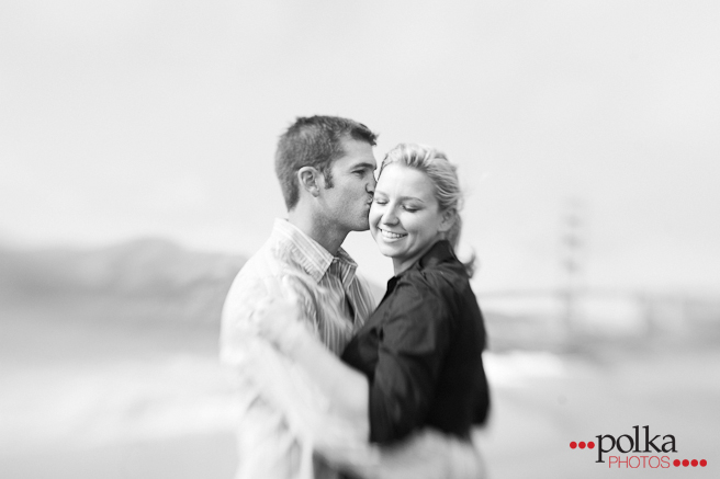 engagement, engagement session, San Francisco, Baker Beach, beach engagement session, b&w, black & white photography