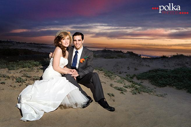 Ventura wedding photographer, beach wedding, beach portrait, bride, groom, couple, wedding, sunset, sunset wedding