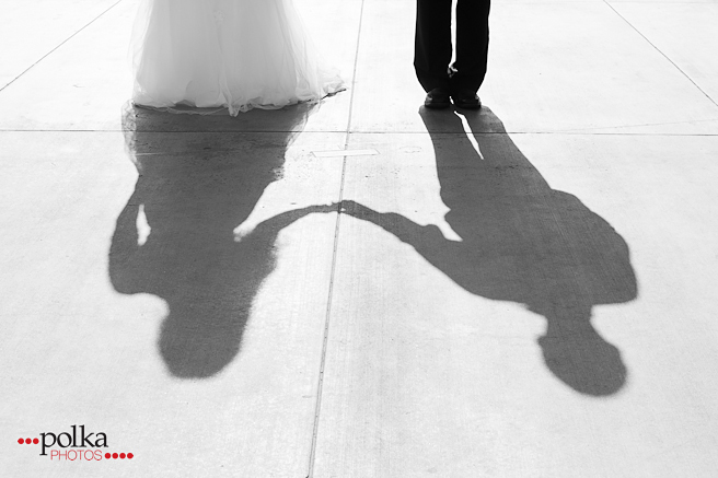 shadow, bride and groom, newlyweds, Los Angeles, Los Angeles wedding photographer, black & white photography, b&w