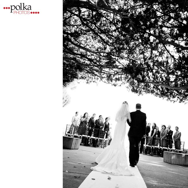 dad walks bride down the aisle, Dana Point, Dana Point wedding, ceremony, outdoor wedding, intimate wedding, Orange County, Orange County wedding photographer, summer wedding