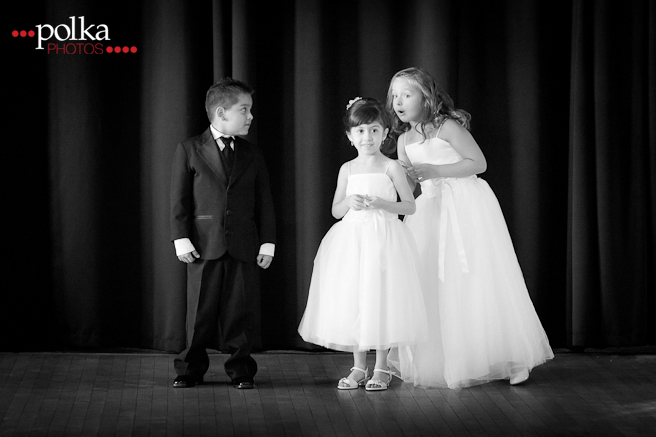 children at weddings, flowergirls, flower girls, ringbearer, Los Angeles wedding photographer, reception, black & white photography, b&w